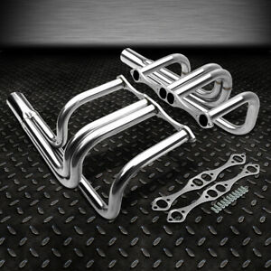 For Small Block Chevy 265 400 V8 T bucket Roadster Rod Stainless Manifold Header