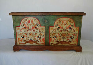 Vintage Hand Painted Blanket Chest