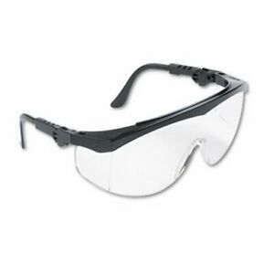 Wraparound Safety Glasses Black Nylon Frame Clear Lens 12 Pairs cws Tk110