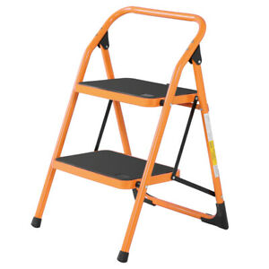 Lightweight 2 Step Ladder Portable Folding Step Stool Anti slip 330lbs Max Load