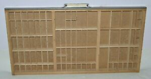 Vintage Printer s Letterpress Type Tray drawer Shadow Box California Job Case