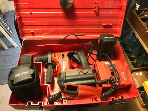 Hilti Te 6 a 36v Cordless Rotary Hammer Drill W charger 2 Batteries