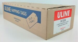 Uline 2 part Inventory Tags W Adhesive Strip Model S 7224 6 1 4 X 3 1 8 Case
