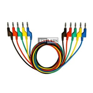 Ast Labs Test Lead Stackable Banana Plug 4 Mm Patch Cable 5 colors 12 Inch