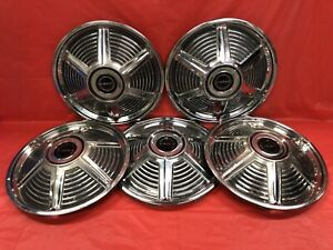 Vintage Set Of 5 1965 Ford Mustang 14 Hubcaps