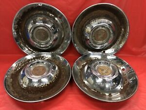 Vintage Set Of 4 1947 Cadillac 15 Hubcaps