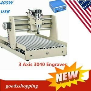 Usb 3 Axis 400w 3040t Cnc Router Engraver Engraving Drilling Milling Machine