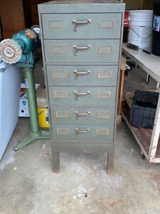 Wwii Vintage Steel Index Card File Cabinet drawer File 27 d X 24 W X 4 4 T
