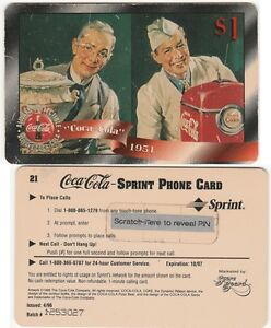 COCA COLA - PHONE CARD - UNUSED FOR COLLECTION --  Expire 1997 --