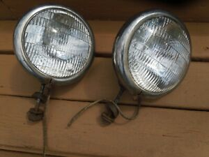 1932 33 34 Ford Chevrolet Plymouth Set 2 Vintage Headlights Hot Rat Rods