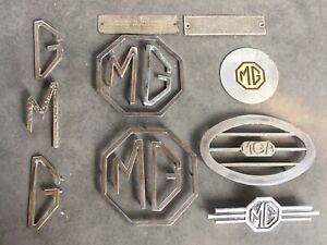 Mga Mgb Magnette Boot Badges Radio Blank Emblem Grille Vent Etc 14pc Lot