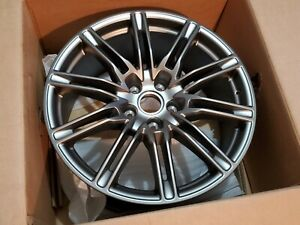 21 Porsche Cayenne Oem Factory Sport Edition Platinum Satin Wheel Rim Gts Turbo