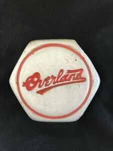 vintage Willys Overland Motors Grease Cap dust Cap Red Lettering
