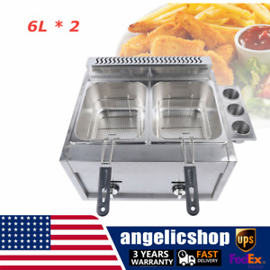 Top 12l Commercial Countertop Gas Fryer 2 Baskets Propane natural Gas Usa