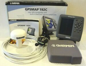GARMIN GPSMAP 192C CHART PLOTTER MARINE FISH FINDER GPS ~ANTENNA PWR COVER MOUNT