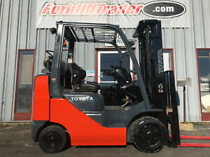 2016 Toyota 8fgcu25 5000lb Cushion Tire Forklift