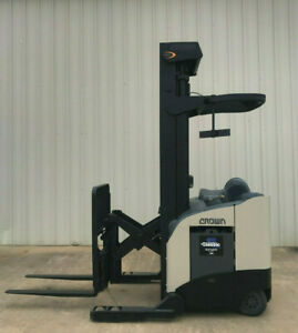 2003 Crown Rr 5200 Narrow Aisle Reach Truck Forklift 270 Only 7287 Hours