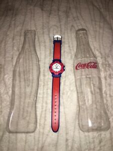 Vintage Water Resistant Coca-Cola Watch In Bottle Shaped Package