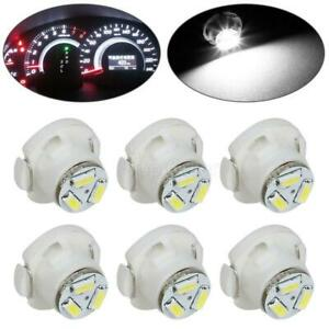 6x White T5 T4 7 Neo Wedge Led Bulb A C Climate Control Light Radio Switch Lamp