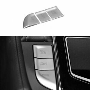 Fit For Cadillac Ct6 2016 2020 Dx Silver Electronic Handbrake Decoration 3pcs