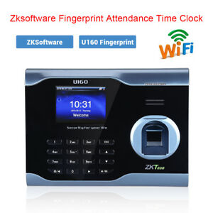 U160 Biometric Fingerprint Time Attendence Time Clock Payroll Recorder 3 Screen
