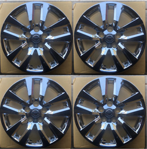 4 New 16 Chrome Hubcap Wheelcover That Fits 2007 2018 Nissan Altima Hub Cap