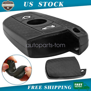 Soft Silicone Carbon Fiber Pattern Key Fob Cover For Bmw First Gen Keyless Fob