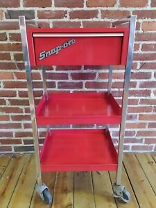 Snap On 1 Drawer 2 Shelf Roll Cart Kr 491 On Wheels Tool Shop Storage