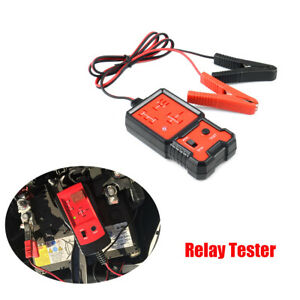 12v Car Truck Automotive Electric Relay Tester Battery Checker Test Tool Red 1pc