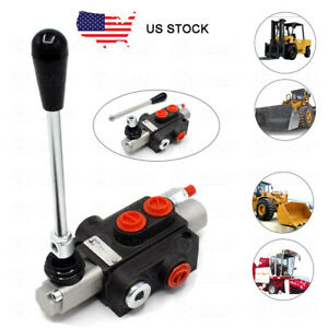 1 Spool Hydraulic Directional Control Valve Joystick 11gpm For Tractor Loader Us