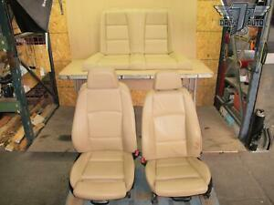 09 13 Bmw E88 1 Series Convertible Front Rear Leather Seat Set Oem