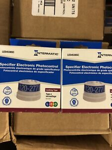 Lot Of 2 Intermatic Led4536sc Specifier Grade Electronic Photo Control New