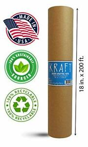 Kraft Brown Wrapping Paper Roll 18 X 2 400 200 Ft 100 Recyclable