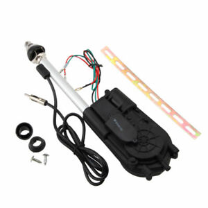 Universal Electric Power Antenna Replacement Kit Car Am Fm Radio Mast Aerial 12v