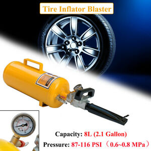 Portable Tire Bead Seater Air Blaster Tool For Motorcycle Atv 8 Lite Tank Yellow