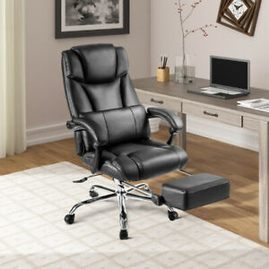 New Reclining Office Chair With Foot Rest Big Tall Office Gaming Chair Cushion
