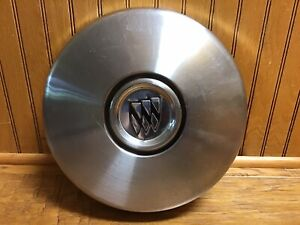 Vintage Buick 10 5 Dog Dish Hubcap Stainless Steel Black Chrome Shields