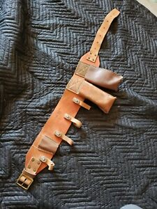Buckingham Heritage 4 Leather Ring Lineman Pole Climbing Body Belt 41 5 Long
