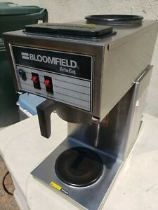 Bloomfield 2 Burner Commercial Coffee Maker Brewer Cafe Excellent Condition