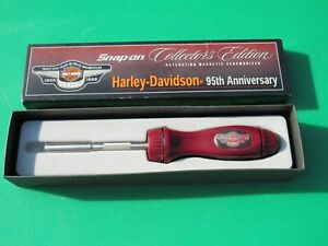 Rare Harley Davidson 95th Anniversary Snap On Ratcheting Screwdriver Ssdmr4b