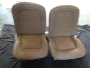 1964 1965 1966 Ford Mustang Shelby Gt 350 Front Bucket Seats With Track Trim