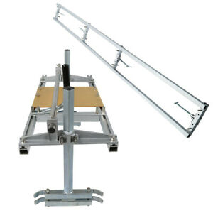 14 36 Chainsaw Mill And Milling Rail Combo System Aluminum Rail Mill Guide Bar