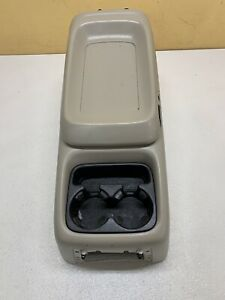 99 06 Chevy Silverado Gmc Truck Center Console W Cup Holder Suburban Oem Taupe