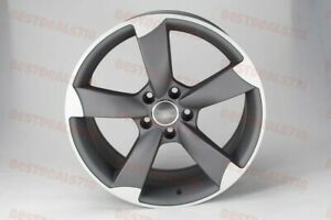 Full Set Of Four 19x8 5 Gunmetal Rs3 Style Rims Wheels Fits Audi A3 A4 5x112