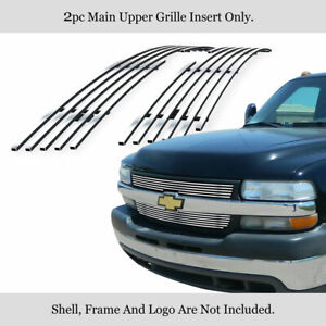 Fits 2001 2002 Chevy Silverado 2500hd 3500 Upper Stainless Chrome Billet Grille
