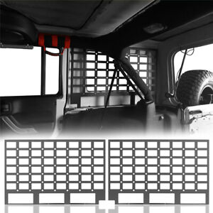 2x Rear Window Molle Panel Flank Panel For Jeep Wrangler Jk 07 18 4door Hardtop