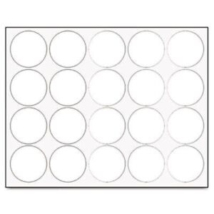 Whiteboard Magnets 3 4 Circles White 20 pack