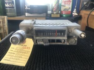 1965 Comet Am Push Button Radio