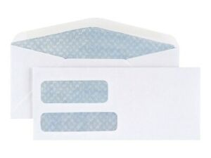 Myofficeinnovations 10 Envelope Double Window Security tint Gummed Envelopes