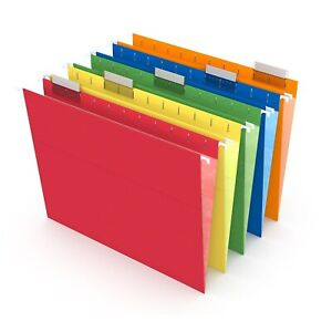 Myofficeinnovations Hanging File Folders 5 Tab Letter Size Assorted 25 box